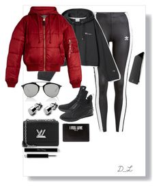 """""""Untitled #157"""" by evelinvalenciagomez on Polyvore featuring adidas Originals, Puma, Louis Vuitton, Vetements, Christian Dior and Givenchy"""
