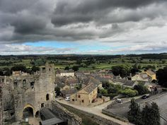 Middleham village viewed from Middleham Castle