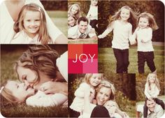 Collage of Joy Multi–Photo Holiday Cards