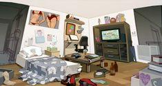 Visual Development: Guy's Room by taho on DeviantArt