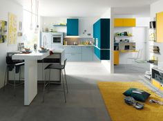 Need some inspiration to visualise your new dream kitchen? Then the Schüller kitchen collection is exactly what you need. Open Plan Kitchen, New Kitchen, Kitchen Dining, Kitchen Decor, Dining Rooms, Kitchen Ideas, Kitchen Cabinet Colors, Kitchen Cabinetry, Kitchen Colors