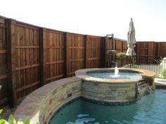 Wood Column Detail Board On Board Fence Pool 02