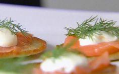 Blini with smoked salmon by Ina Garten (Smoked Salmon) @FoodNetwork_UK