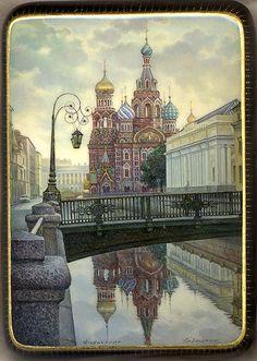 Fedoskino: Cathedral of the Resurrection of Christ Artist: Aldoshkin Yuriy