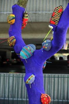 Yarn bombers have Birmingham in stitches | The Detroit News | detroitnews.com: