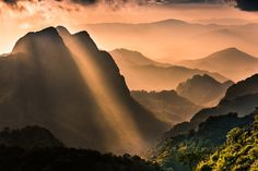 Raylight sunset Landscape at Doi Luang Chiang Dao - Raylight sunset Landscape at Doi Luang Chiang Dao, High mountain in Chiang Mai Province, Thailand,, by Sittitap Leangrugsa...