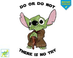 YODA Star Wars Disney Printable Iron On Transfer or Use as Clip Art - DIY Disney Star Wars Shirt - Perfect for Star Wars Marathon or Weekend