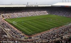 St James Park - home of Newcastle United-i have been there to watch newcastle vs man.united in 1997!!!