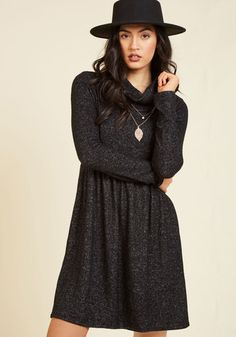 #AdoreWe #ModCloth Dress - ModCloth Honoring Hygge Dress in Charcoal - AdoreWe.com
