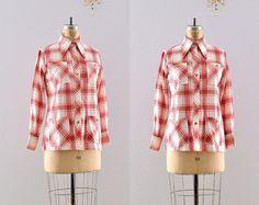 vintage 1970s shirt / western shirt / vintage by PickledVintage, $38.00