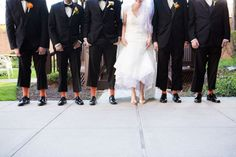 Adorable photo of the bride and groomsmen's shoes