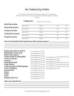 Printables Wedding Day Timeline Worksheet wedding brides and worksheets on pinterest free downloadable timeline template