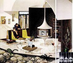 1960's interior.  Pinned by Secret Design Studio, Melbourne.  www.secretdesignstudio.com