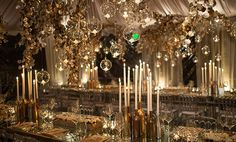 hanging glass ball blend in well with the metallic designed element by White Lilac Inc.