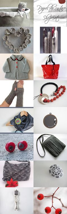 Christmas gifts for everyone - Grey Winter cherries  by Inese on Etsy--Pinned with TreasuryPin.com