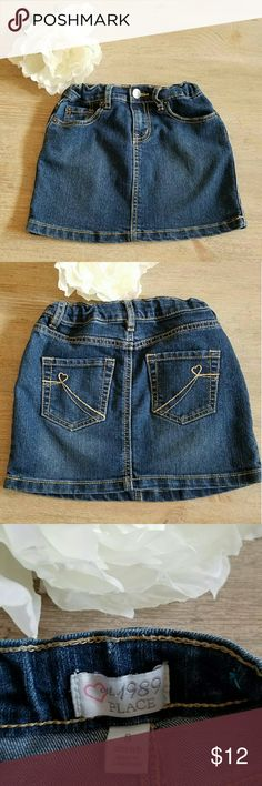 Children's Place Girl's Jean Skirt Beautiful Girl's dark jean denim skirt with adjustable waist! Perfect with or without leggings! Children's Place Bottoms Skirts