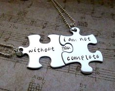 With out you I am not complete Hand Stamped by ChloeBellsCloset, $34.00