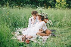 Свадебный пикник. Луговые цветы. Фото: Николай Абрамов