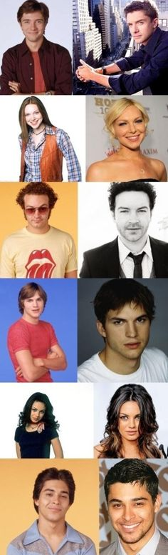 'That '70s Show': Topher Grace, Laura Prepon, Danny Masterson, Ashton Kutcher, Mila Kunis and Wilmer Valderrama