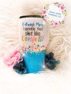 Baby Shark Glittered Tumbler Glass ~ Baby Shark Song Cousin Brother Sister Etc