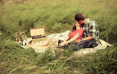 I like the idea a blanket in the field engagement pictures.