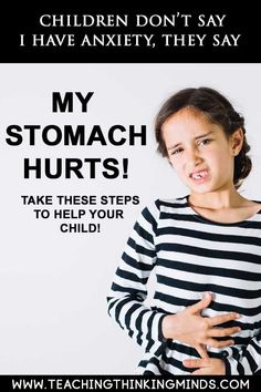 """Is your child complaining of stomach ache? It could be anxiety. Children won't say I have anxiety, they say """"My stomach hurts! Signs Of Anxiety, Deal With Anxiety, Stress And Anxiety, Home Remedy For Cough, Cold Home Remedies, Natural Sleep Remedies, Natural Health Remedies, Natural Cures, My Stomach Hurts"""