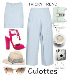 """Tricky Trend: Chic Culottes"" by lidia-solymosi ❤ liked on Polyvore featuring 3x1, Gucci, Eugenia Kim, Valentino, Garance Doré, Jennifer Fisher, Charlotte Chesnais, Qupid, TrickyTrend and culottes"