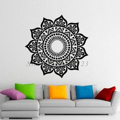 Removable Mandalas Wall Stickers Vinyl Art Indian Pattern Namaste Yoga Wall Decals Home Decor