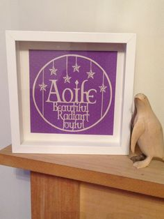 Aoife name meaning personalised paper cut by www.facebook.com/papercuttingdonkey