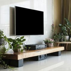Diy Furniture Tv Stand, Tv Stand Decor, Living Room Speakers, Low Tv Stand, Best Tv Wall Mount, Tv Stand Designs, Solid Wood Tv Stand, Living Room Tv Unit Designs, Casas Containers