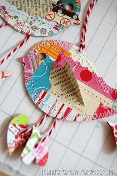paper happy bird, tons of ideas in paper and fabric