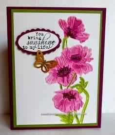 Sweet Irene's Inspirations: Stampin' Up Flower Garden Embossing Folder