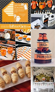 Invitaciones para Baby Shower, Invitaciones de Baby Shower, Fiesta de Halloween…