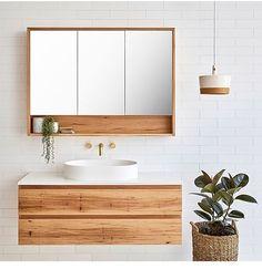 Loughlin Furniture Avoca Single Bathroom Vanity to - Handmade on the NSW Central Coast - The Blue Space Small Bathroom Storage, Laundry In Bathroom, Single Bathroom Vanity, White Bathroom, Bathroom Wall, Single Vanities, Bathroom Ideas, Bathroom Designs, Marble Bathrooms