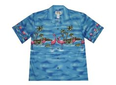 317d0a6a Mens Hawaiian shirt with pink flamingos Flamingo Shirt, Aloha Shirt, Mens Hawaiian  Shirts,