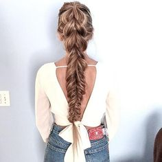 Gorgeous through combo braid from tatianayakovlev