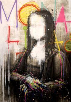 'Mona Lisa', street art, graffiti art, by Artist : Zest, pop art. Tachisme, Tableau Pop Art, Mona Lisa Parody, Mona Lisa Smile, Urbane Kunst, Street Art Graffiti, Graffiti Artwork, Oeuvre D'art, Vincent Van Gogh