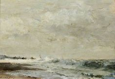 The Foreshore by Edward Brian Seago Southend Museums Service Oil on board