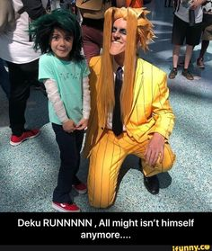 Little Deku and All Might All Might by Onekicknick Deku by All Might Cosplay, Epic Cosplay, Cute Cosplay, Amazing Cosplay, Cosplay Outfits, Cosplay Costumes, Boku No Hero Academia Funny, My Hero Academia Shouto, My Hero Academia Episodes