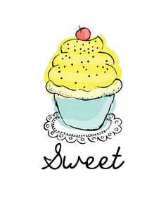 Yellow-frosted cupcake
