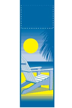 New Beach Chair - Stock banner 06212 Screen print outdoor fabric banners by Consort Display Group. #screenprint