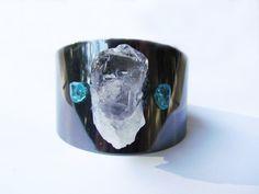 Quartz crystal with apatite stone and by JonesTrinketsTrade
