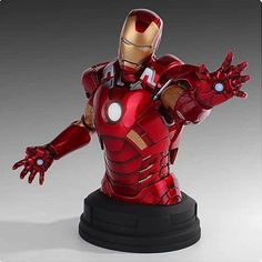 Straight out of The Avengers, it's an awesome mini-bust!  Highly-detailed, screen-accurate depiction of Tony Stark.    Now you can assemble your own Avengers with the Avengers Iron Man Deluxe Mini-Bust! Rendered using the authentic digital sculpts from the Avengers film, this mini-bust is the definition of screen-accurate. Cold cast in high quality polystone and hand-painted, this individually numbered limited edition mini-bust is a must-have for any true Marvel fan.