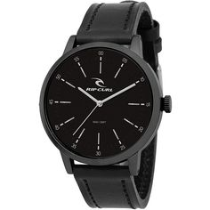 Rip Curl Drake Midnight Leather Watch ($145) ❤ liked on Polyvore featuring men's fashion, men's jewelry, men's watches, analog watches, blue, mens watches, watches, mens analog watches, mens waterproof watches and mens blue watches