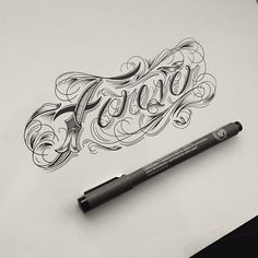I think this is really pretty, even as it walks the fine line of legibility versus expressiveness. by Raul Alejandro