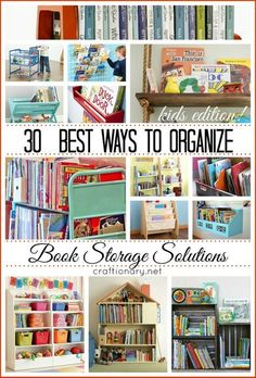 30 different and unique ways to organize books. Number 10 and 21 are my favorite! #organization