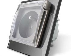 Luxusná exteriérová zásuvka s ochranným kolíkom a krytkou v striebornej farbe Smart Home, Retro, Phone, Luxury, Smart House, Telephone, Retro Illustration, Mobile Phones