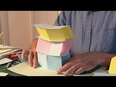 Pop-Up Tutorial 30 - V-fold action - Building a Tower - YouTube