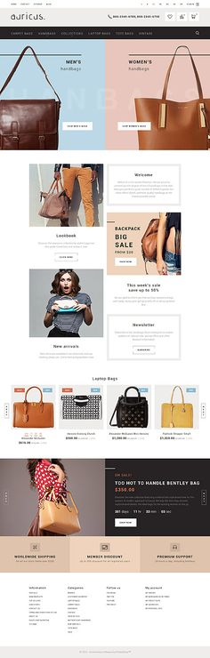 $139 - Auricus - Handbag Responsive PrestaShop Theme  Auricus is a responsive Dresses Online PrestaShop Template, which is capable of handling a fashion and accessory store of any size.