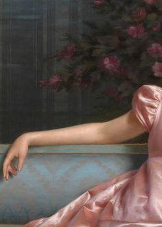 sollertias.tumblr.com ❀ vittorio reggianini la coquette (I858 † I938) art peinture palette rose (detail painting pink palett)